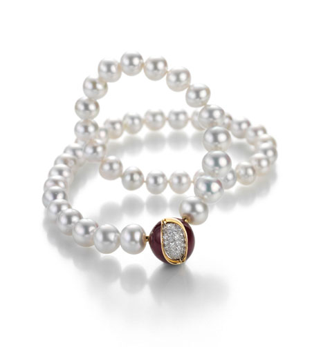 White South Sea Pearl Strand & Mystery Sphere